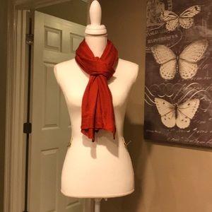 Burnt orange knit scarf